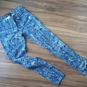 H&M patterned jeans pants blue size 6